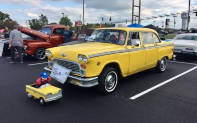 1979 Checker Taxi with a glove box door signed by Jay Leno – $6900 (Canton)