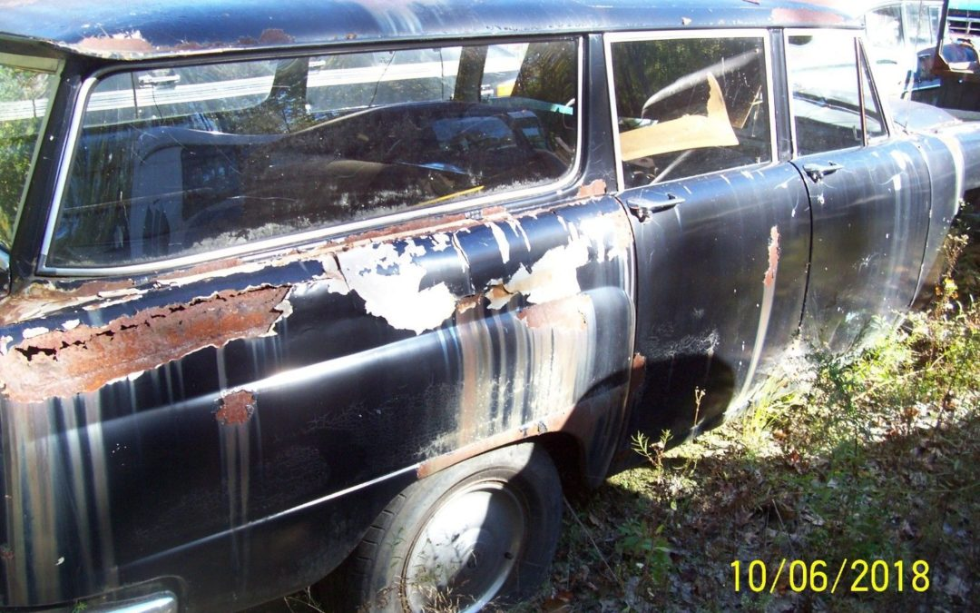 1964 Checker Wagon Ebay Auction Very Rough Parts Car $2500 starting bid
