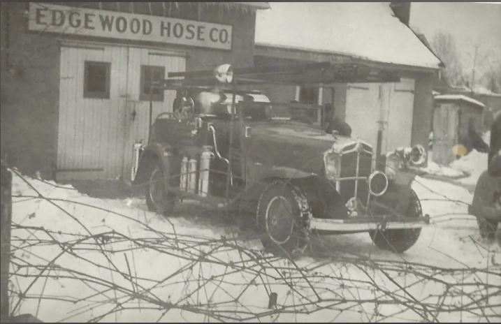 The Edgewood Hose Company Checker Chemical Car
