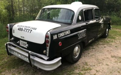 Authentic 1982 Checker Model A11 Black & White Taxicab